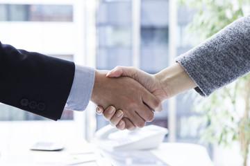 Greeting of businessman