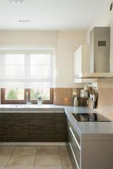 Kitchen with modern furniture