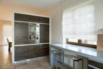 Modern furniture inside new kitchen