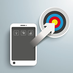 Smartphone Arrow Target PiAd