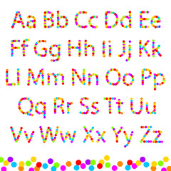 Font color of the circles