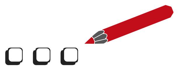 crayon case à cocher picto vecteurs