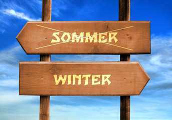 Strassenschild 29 - Winter