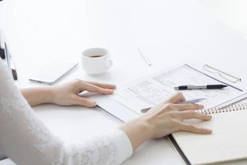 Hand of working women