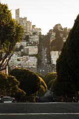 Sloping street at San Francisco