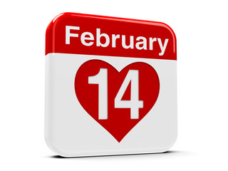 14th February with heart