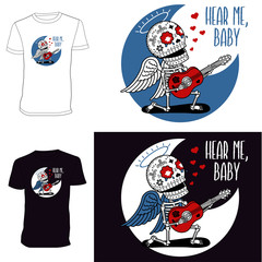 Skeletons. T-shirt. Angel Serenade