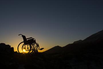 tekerlekli sandalye silüet