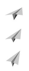Avion papier origami picto vecteurs