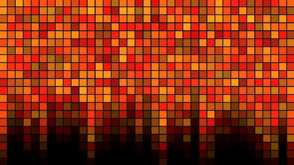 Blinking Tiles Background - Loop Orange
