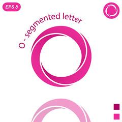 Three segmented o letter logo concept