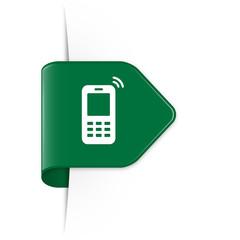 Mobile phone - Dunkelgrüner Sticker Pfeil mit Schatten
