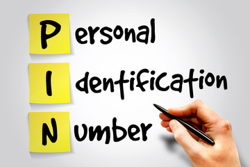 Personal Identification Number (PIN) sticky note