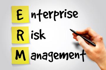 Enterprise Risk Management (ERM) sticky note concept
