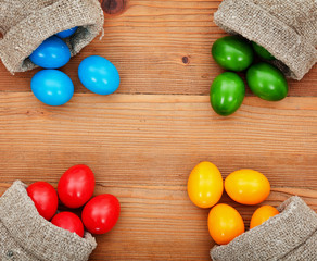 Spring colors of easter