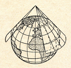 Conic map projection