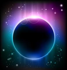 Space planet blue nebula