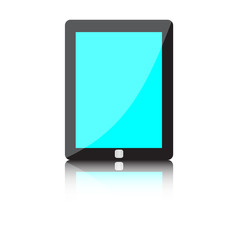 Illustration of modern technology device - computer tablet