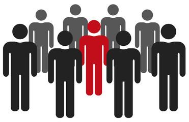 groupe + leader réunion picto vecteurs