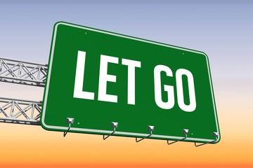Let go against purple and orange sky