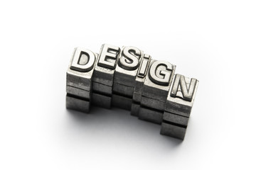 Design word, letterpress block letter