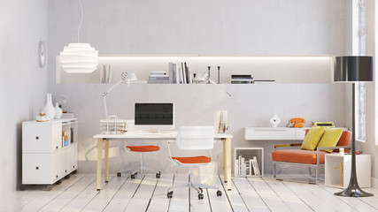 Arbeitsplatz in Loft Büro - Workplace in old loft apartment