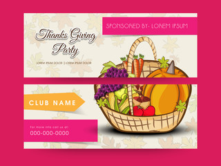 Website header or banner set for Thanksgiving Day celebration.