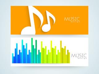 Website header or banner set for music.