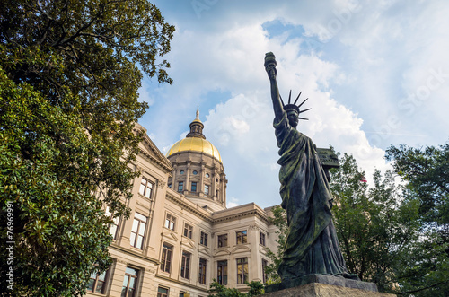 Leinwanddruck Bild Georgia State Capitol Building in Atlanta, Georgia