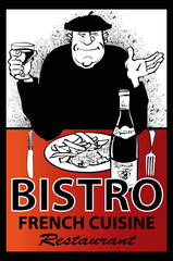 Business french restaurant poster