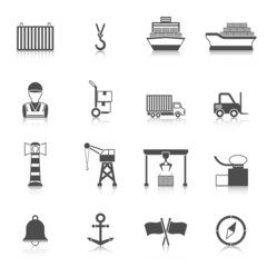 Seaport Black Icon