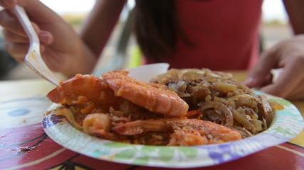 Shrimp truck food from Oahu Hawaii