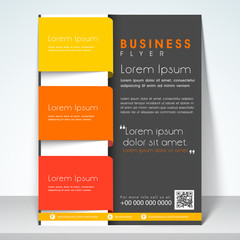 Professional business flyer, template or banner design.