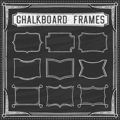 A Set of Chalkboard Frames - Design Elements - Illustration
