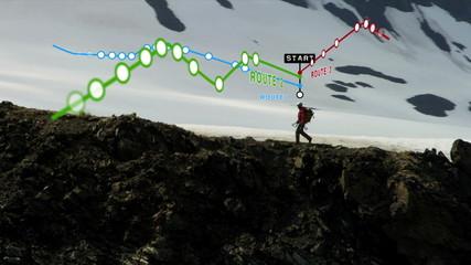 Ridge Walker Glacier Peaks American Male Routes Distances Apps 3D Stats CG