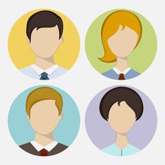 Set of business avatar.