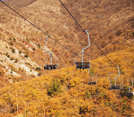 Cableway over the mountains