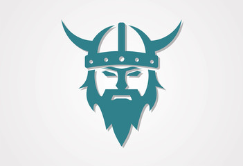 Viking icon vector logo