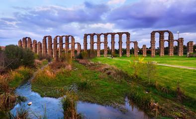 Roman aqueduct. Merida, Spain