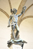 Sculpture of Perseus With The Head of Medusa by Benvenuto Cellin poster