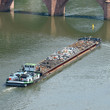 Barge transports waste on the river - 76973923