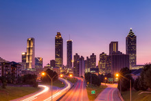 "Постер, картина, фотообои ""Atlanta skyline during twilight"""