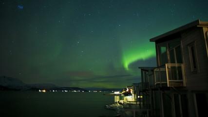 Time lapse Aurora Polaris  natural solar light Northern Lights Norway