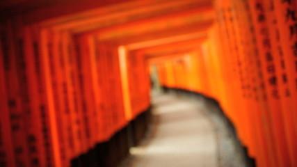 Tori gates Fushimi Inari Taisha shrine inscriptions Buddhist Kyoto