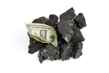 Coal price in dollar terms