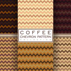 coffee chevron seamless pattern collection
