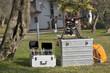 Leinwanddruck Bild - Drone and Tools