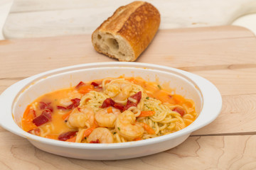 Shrimp Scampi and Bread