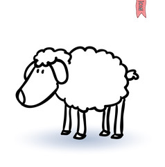 sheep, vector illustration