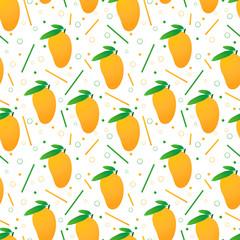 Seamless mangoes pattern